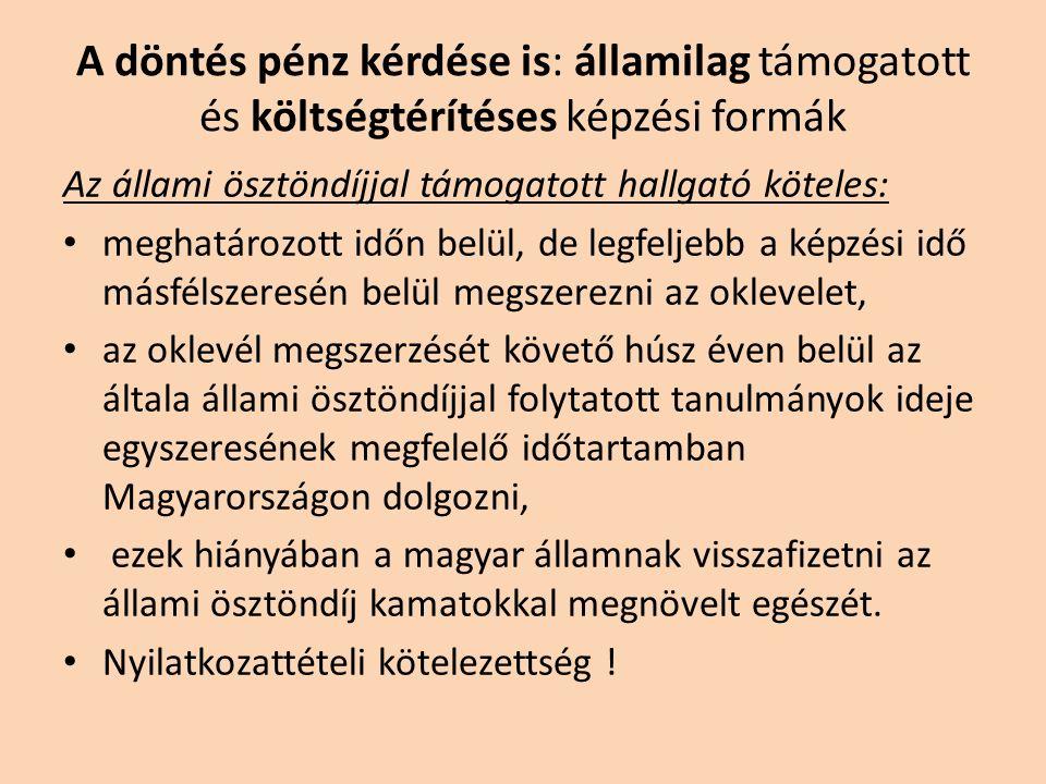 Ahová csak emelt szinttel lehet bejutni : Agrár képzési terület állatorvosi, erdőmérnöki osztatlan képzés Bölcsészettudomány képzési terület andragógia, anglisztika, germanisztika, keleti nyelvek és kultúrák, magyar, néprajz, ókori nyelvek és kultúrák, pedagógia, pszichológia, romanisztika, romológia, szabad bölcsészet, szlavisztika, történelem alapszakok Jogi képzési terület jogász osztatlan képzés Gazdaságtudományok képzési terület alkalmazott közgazdaságtan, gazdaság- és pénzügyi- matematikai elemzés alapszakok