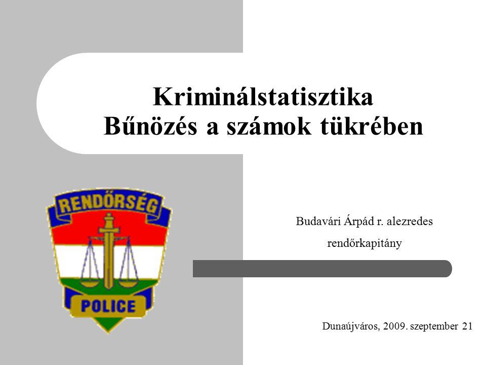 Kriminálstatisztika Bűnözés a számok tükrében Dunaújváros, 2009.