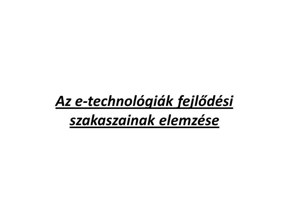 Az e-technológiák fejlődési szakaszainak elemzése