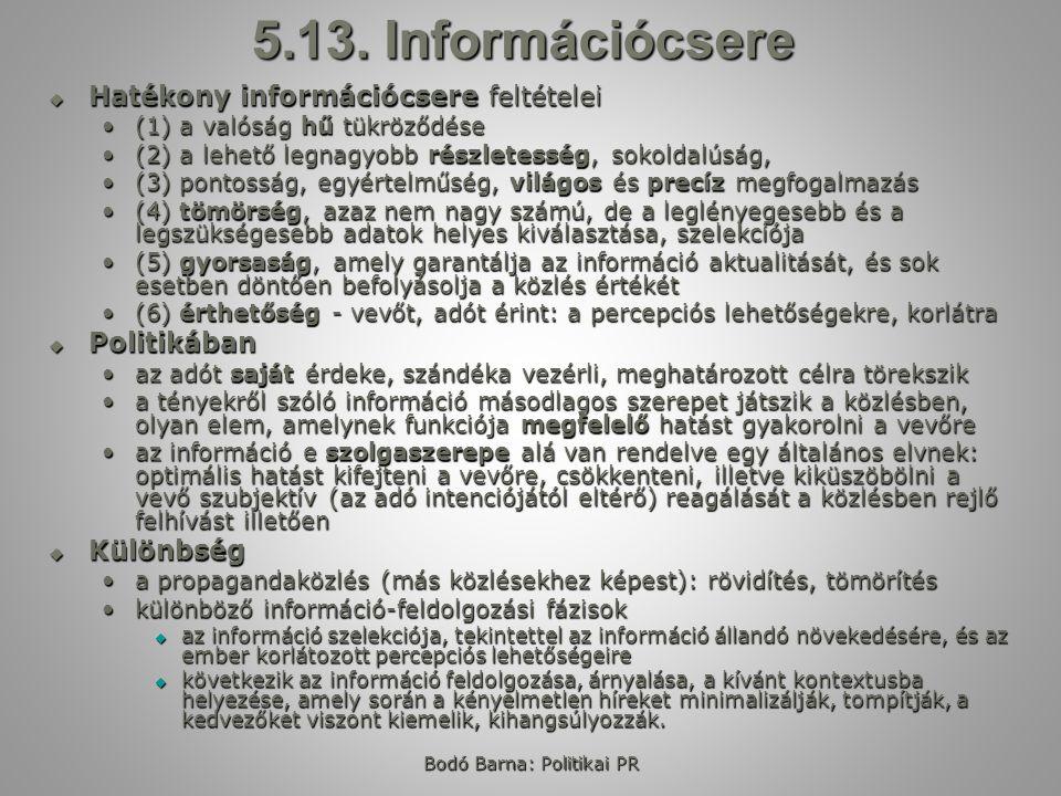 Bodó Barna: Politikai PR 5.13.