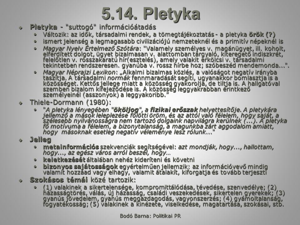 Bodó Barna: Politikai PR 5.14.