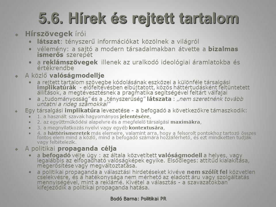 Bodó Barna: Politikai PR 5.6.