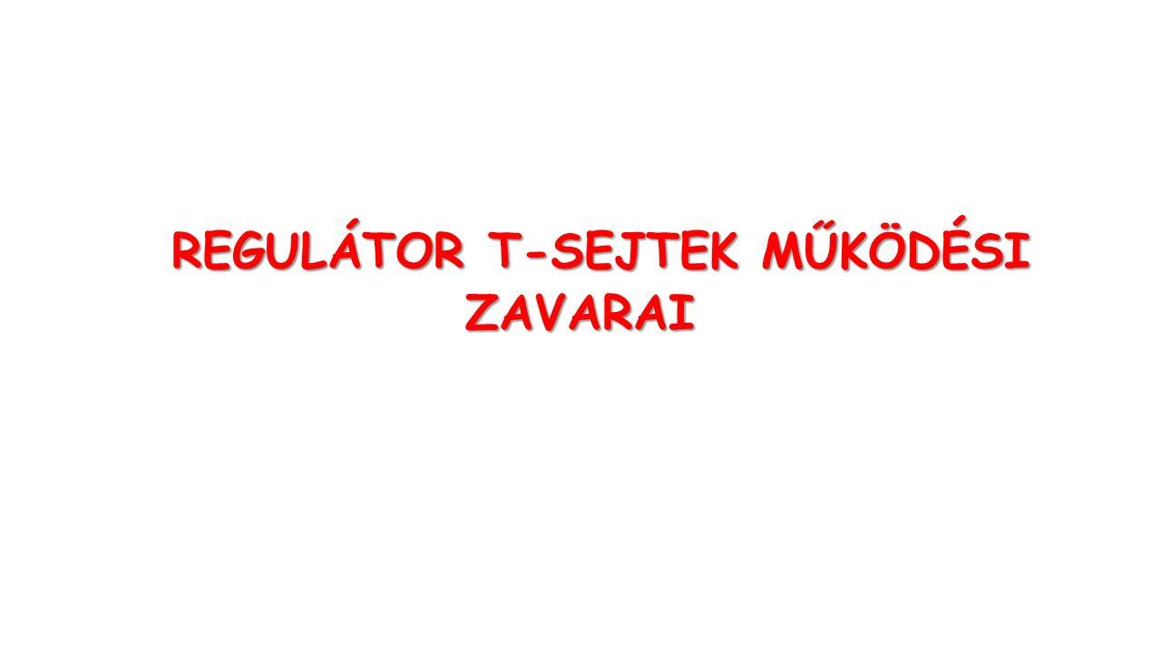 REGULÁTOR T-SEJTEK MŰKÖDÉSI REGULÁTOR T-SEJTEK MŰKÖDÉSIZAVARAI