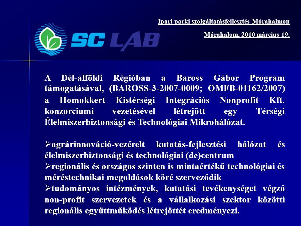 A Dél-alföldi Régióban a Baross Gábor Program támogatásával, (BAROSS-3-2007-0009; OMFB-01162/2007) a Homokkert Kistérségi Integrációs Nonprofit Kft.