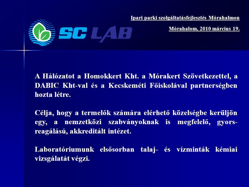 A Hálózatot a Homokkert Kht.