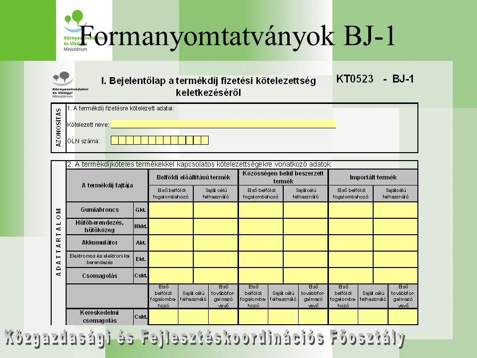 Formanyomtatványok BJ-1
