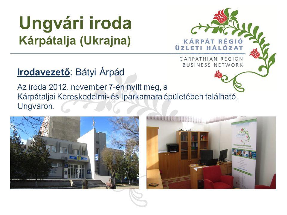 Ungvári iroda Kárpátalja (Ukrajna) Irodavezető: Bátyi Árpád Az iroda 2012.