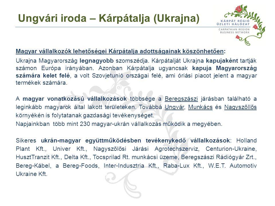 Magyar vállalkozók lehetőségei Kárpátalja adottságainak köszönhetően: Ukrajna Magyarország legnagyobb szomszédja.