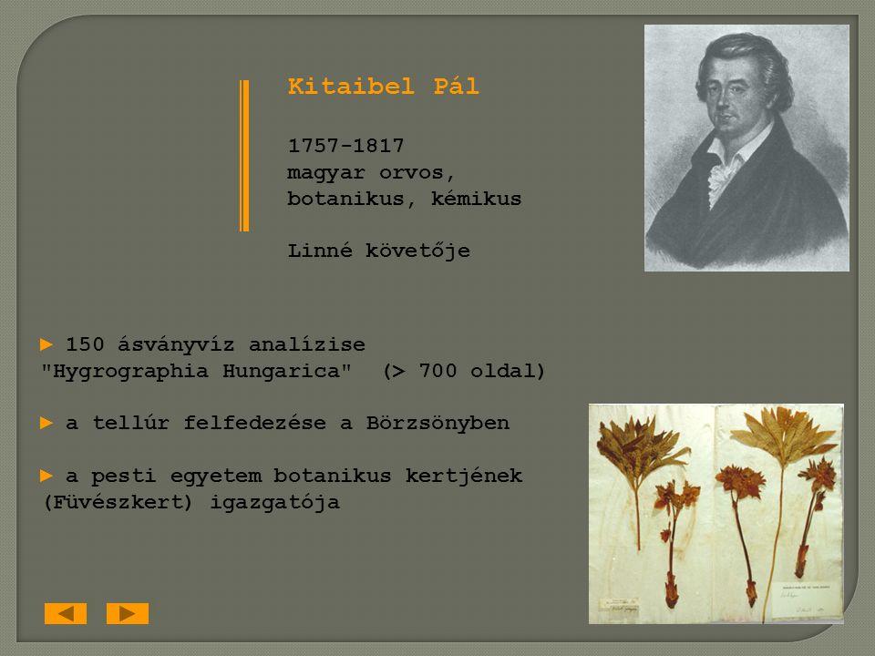 1735. Carl Linné: Systema Naturae (A természet rendszere) 1807. Diószegi Sámuel — Fazekas Mihály: Magyar Fűvész Könyv