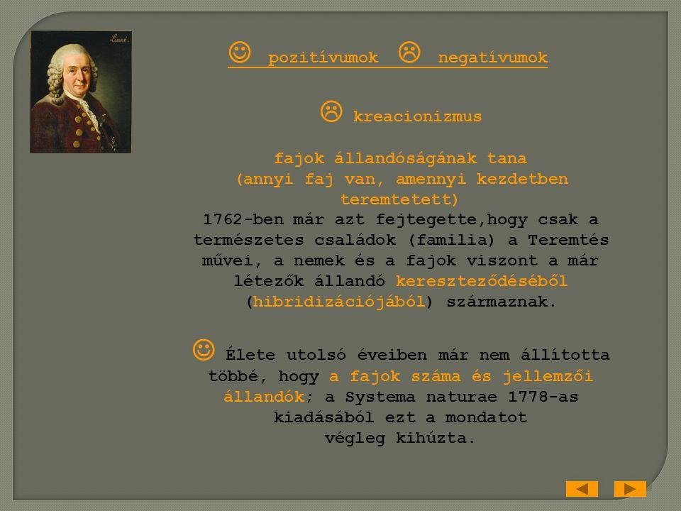 Carl von Linné 1707-1778 svéd egyetemi tanár, orvos, botanikus Systema naturae (1735) növény- és állatvilág átfogó rendszere ásványtan Species plantar