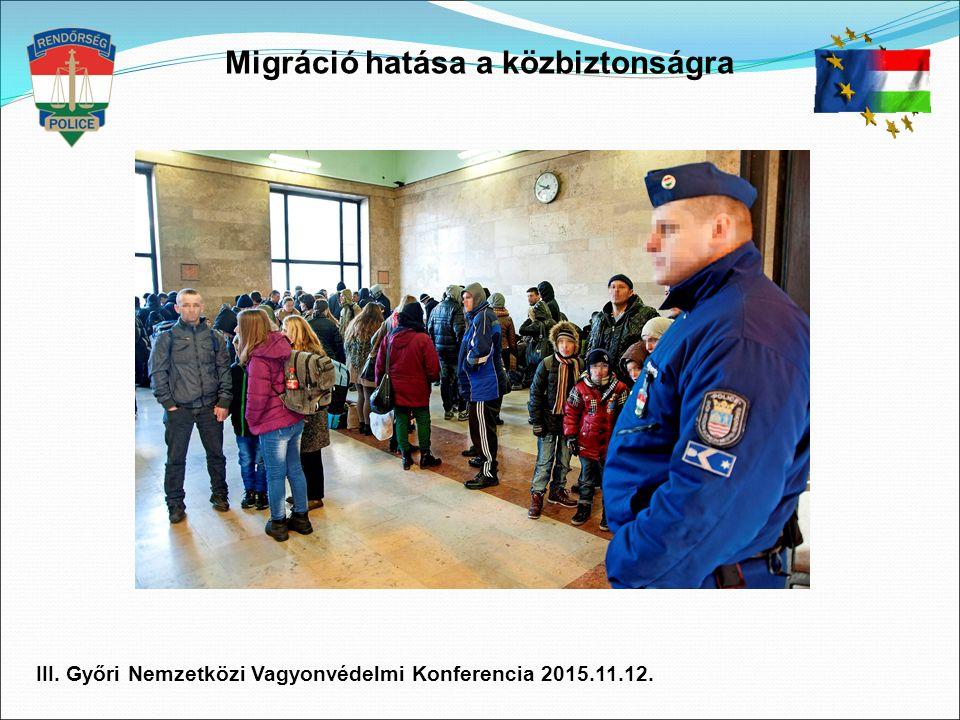 Migráció hatása a közbiztonságra III. Győri Nemzetközi Vagyonvédelmi Konferencia 2015.11.12.