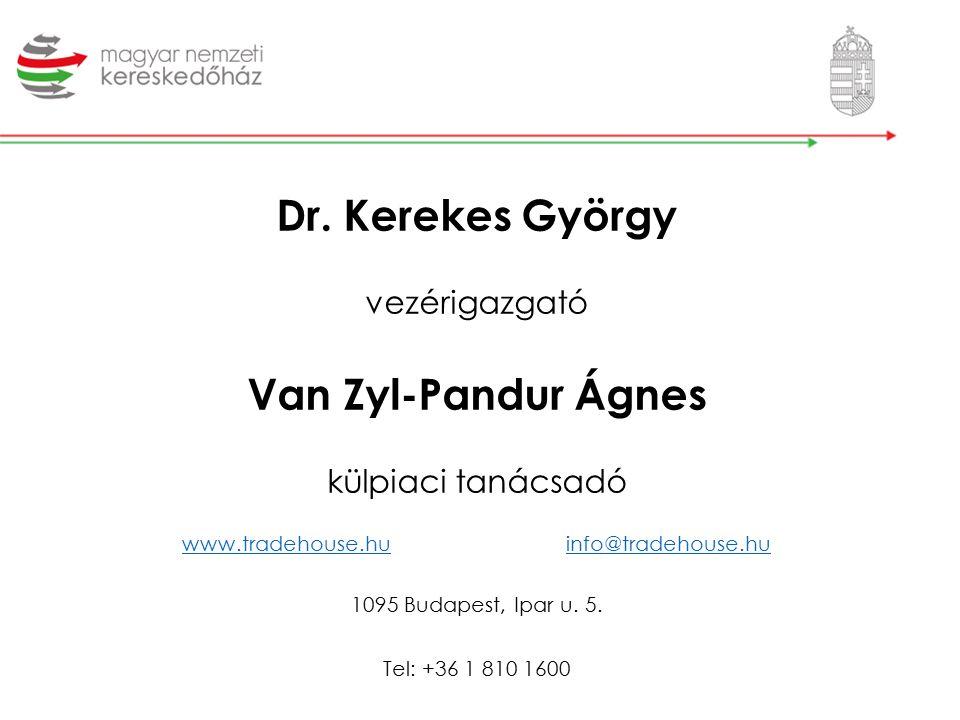 Dr. Kerekes György vezérigazgató Van Zyl-Pandur Ágnes külpiaci tanácsadó www.tradehouse.huinfo@tradehouse.hu 1095 Budapest, Ipar u. 5. Tel: +36 1 810