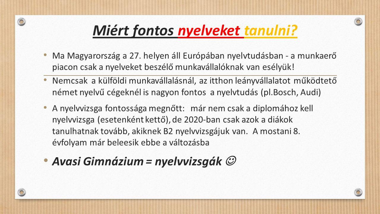 Miért fontos nyelveket tanulni. Ma Magyarország a 27.