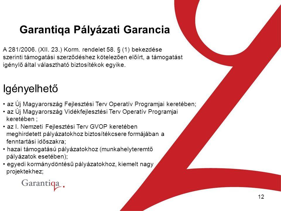 12 A 281/2006.(XII. 23.) Korm. rendelet 58.