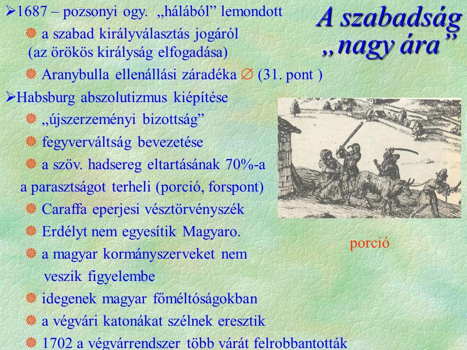 porció  1687 – pozsonyi ogy.