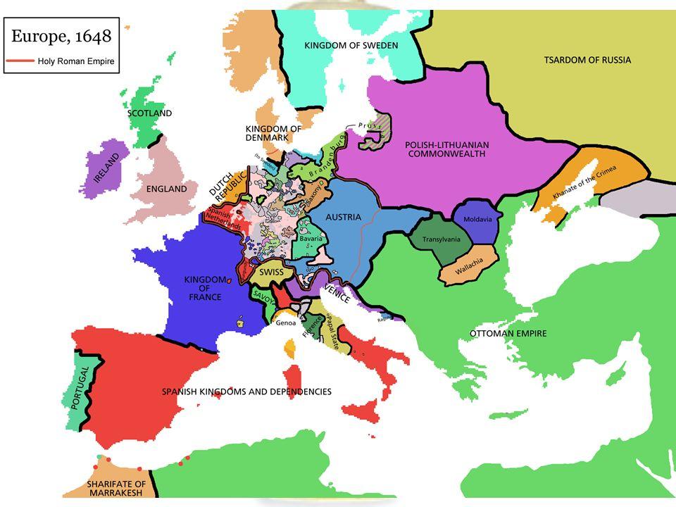 VII. Vesztfáliai béke Hollandia és Svájc Svédország Brandenburg, Bajorország Franciaország fejedelmek Német-Római császár Ausztria