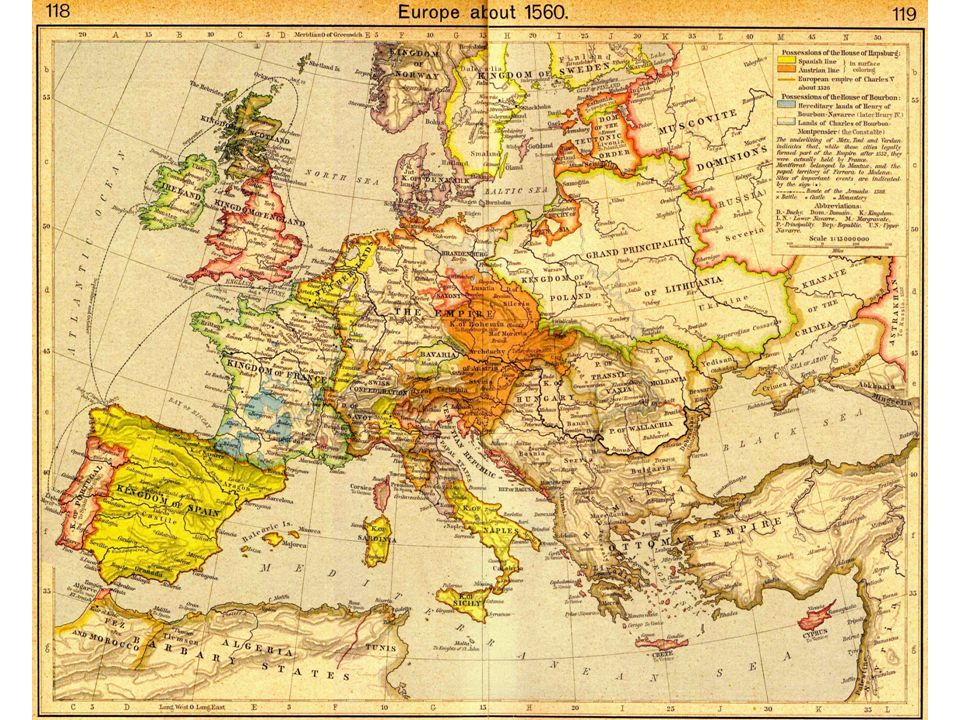 A háborúk következményei V. Károly birodalma Meggyengült hatalom spanyol és NRCS meggyengült papság Fejedelmek befolyása nő pápai ellentét Franciaorsz