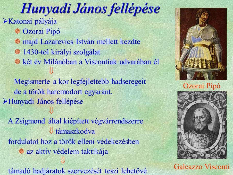  Katonai pályája  Ozorai Pipó  majd Lazarevics István mellett kezdte  1430-tól királyi szolgálat  két év Milánóban a Viscontiak udvarában él  Me