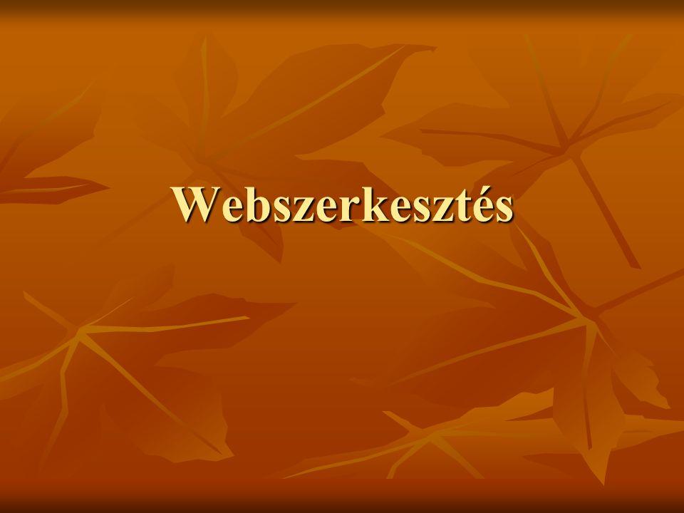 Webszerkesztés