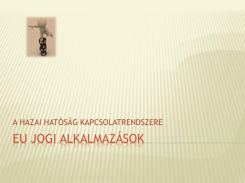 A HAZAI HATÓSÁG KAPCSOLATRENDSZERE