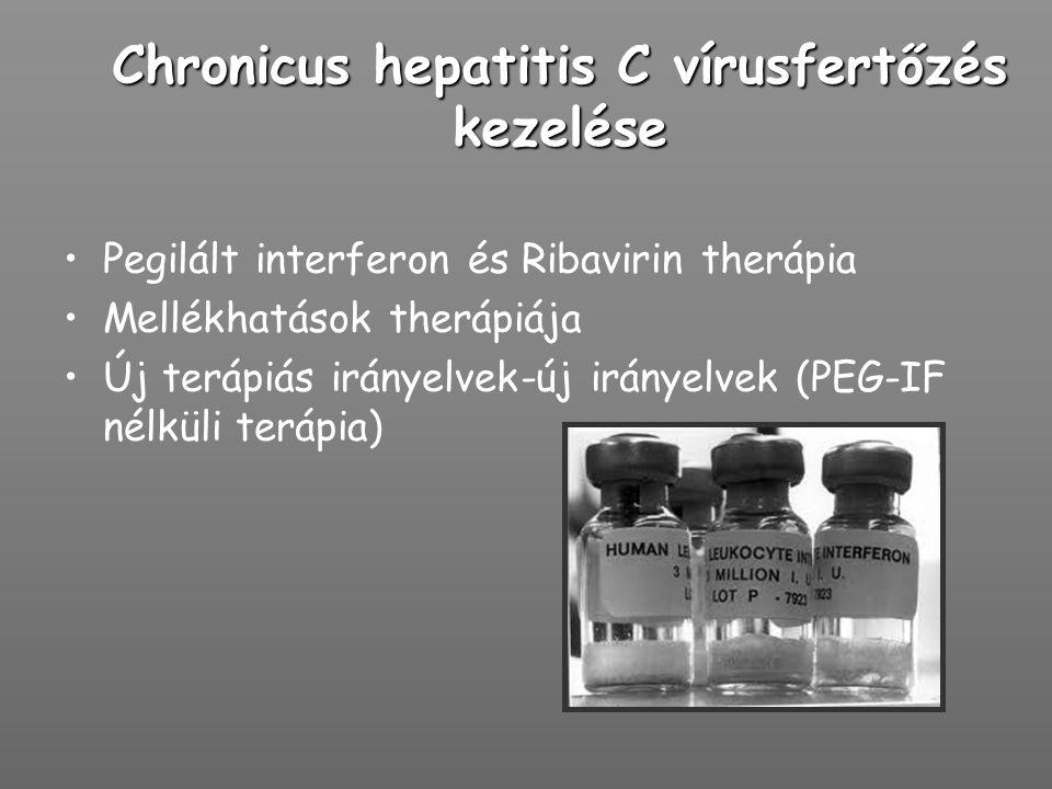 Chronicus hepatitis C vírusfertőzés kezelése Pegilált interferon és Ribavirin therápia Mellékhatások therápiája Új terápiás irányelvek-új irányelvek (