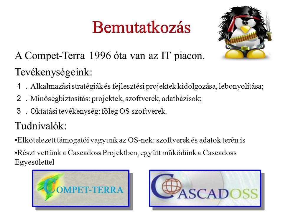 Bemutatkozás A Compet-Terra 1996 óta van az IT piacon.