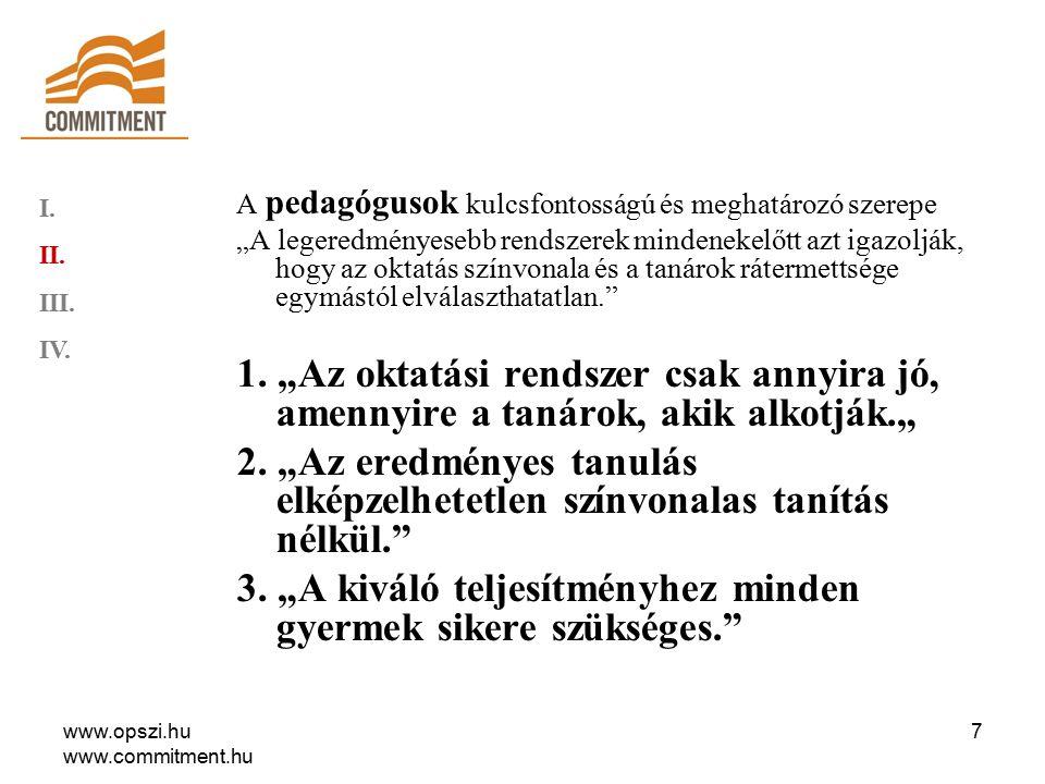 www.opszi.hu www.commitment.hu 8 I. II. III. IV.