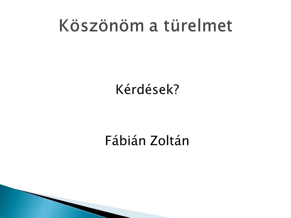 Kérdések Fábián Zoltán