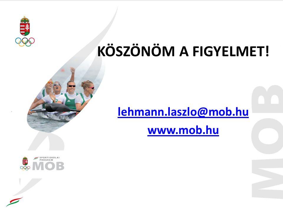 KÖSZÖNÖM A FIGYELMET! lehmann.laszlo@mob.hu www.mob.hu