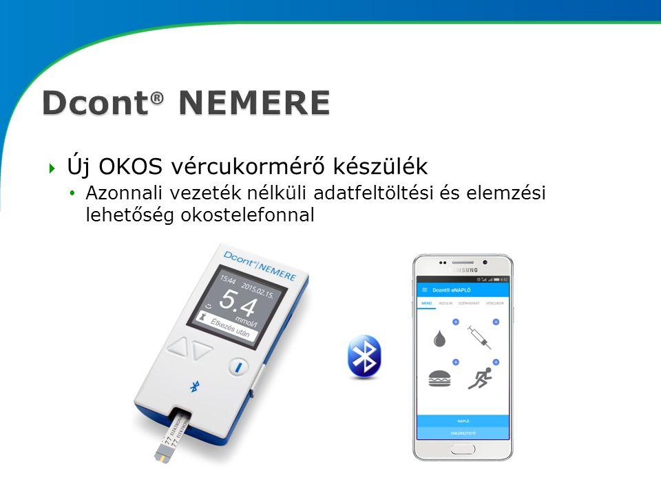  Új OKOS vércukormérő készülék Azonnali vezeték nélküli adatfeltöltési és elemzési lehetőség okostelefonnal