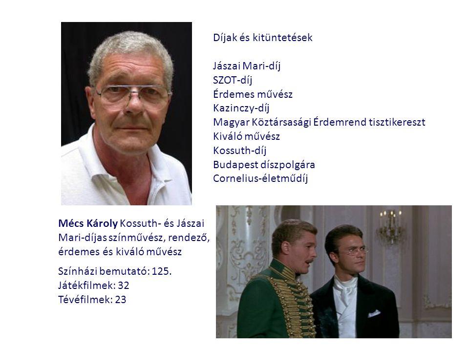 Mécs Károly Kossuth- és Jászai Mari-díjas színművész, rendező, érdemes és kiváló művész Színházi bemutató: 125.