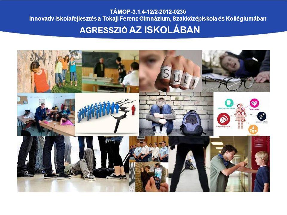 TÁMOP-3.1.4-12/2-2012-0236 Innovatív iskolafejlesztés a Tokaji Ferenc Gimnázium, Szakközépiskola és Kollégiumában AGRESSZIÓ AZ ISKOLÁBAN