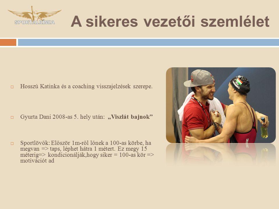  Hosszú Katinka és a coaching visszajelzések szerepe.