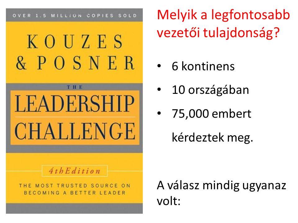 Melyik a legfontosabb vezetői tulajdonság. 6 kontinens 10 országában 75,000 embert kérdeztek meg.