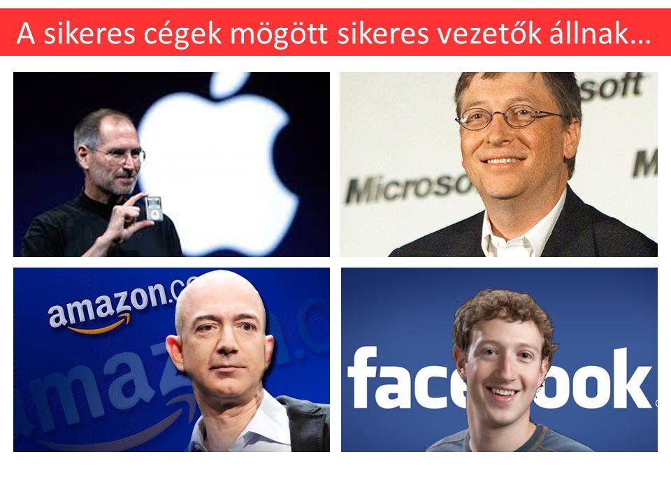 A sikeres cégek mögött sikeres vezetők állnak…