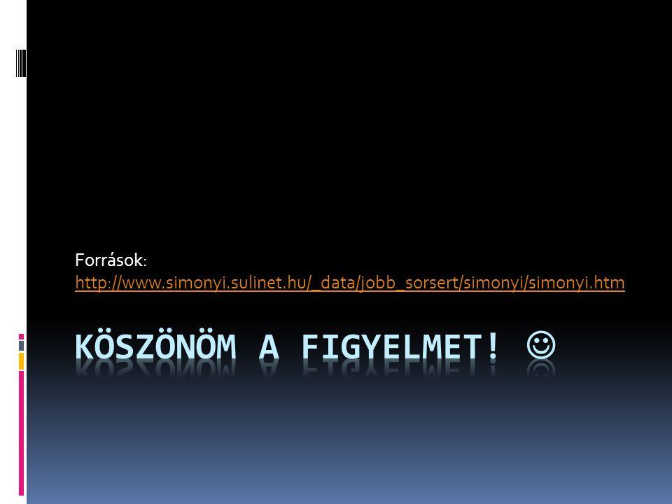 Források: http://www.simonyi.sulinet.hu/_data/jobb_sorsert/simonyi/simonyi.htm