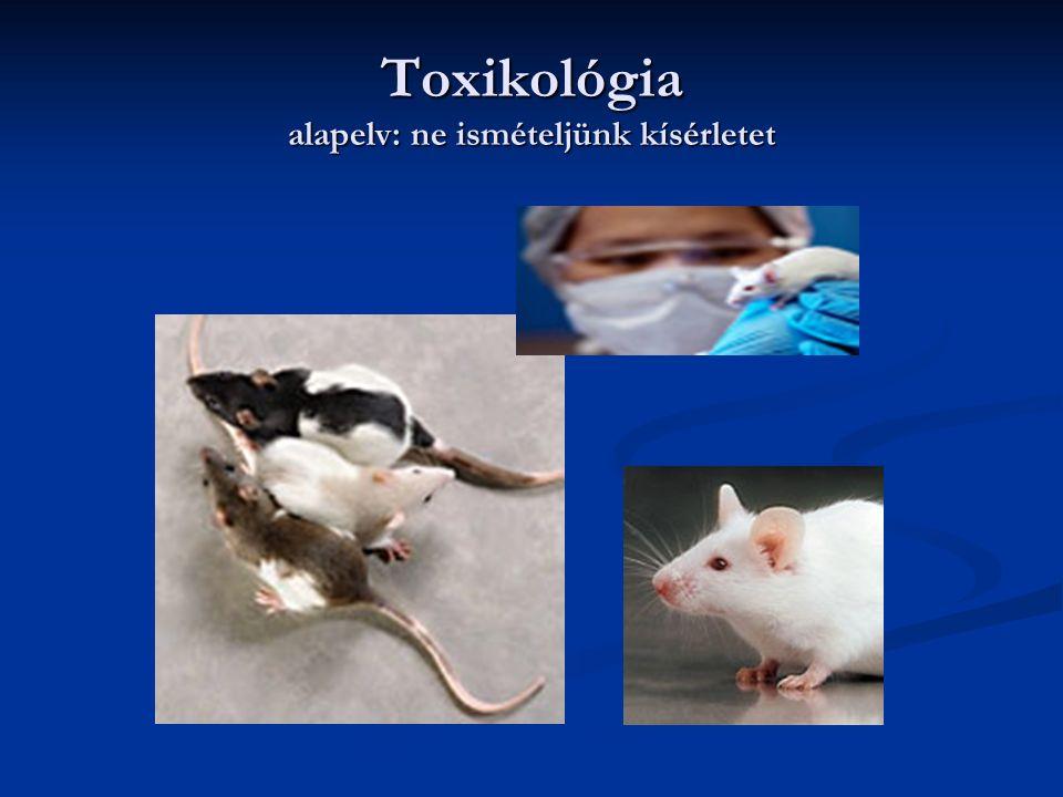 Toxikológia alapelv: ne ismételjünk kísérletet