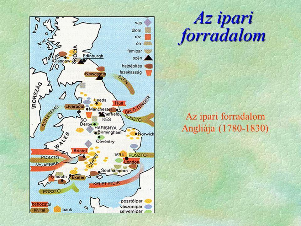Az ipari forradalom Az ipari forradalom Angliája (1780-1830)