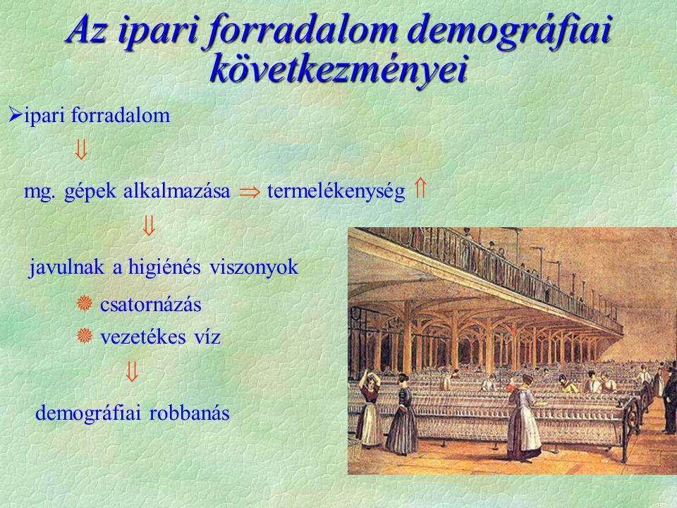 Az ipari forradalom demográfiai következményei  ipari forradalom  mg.