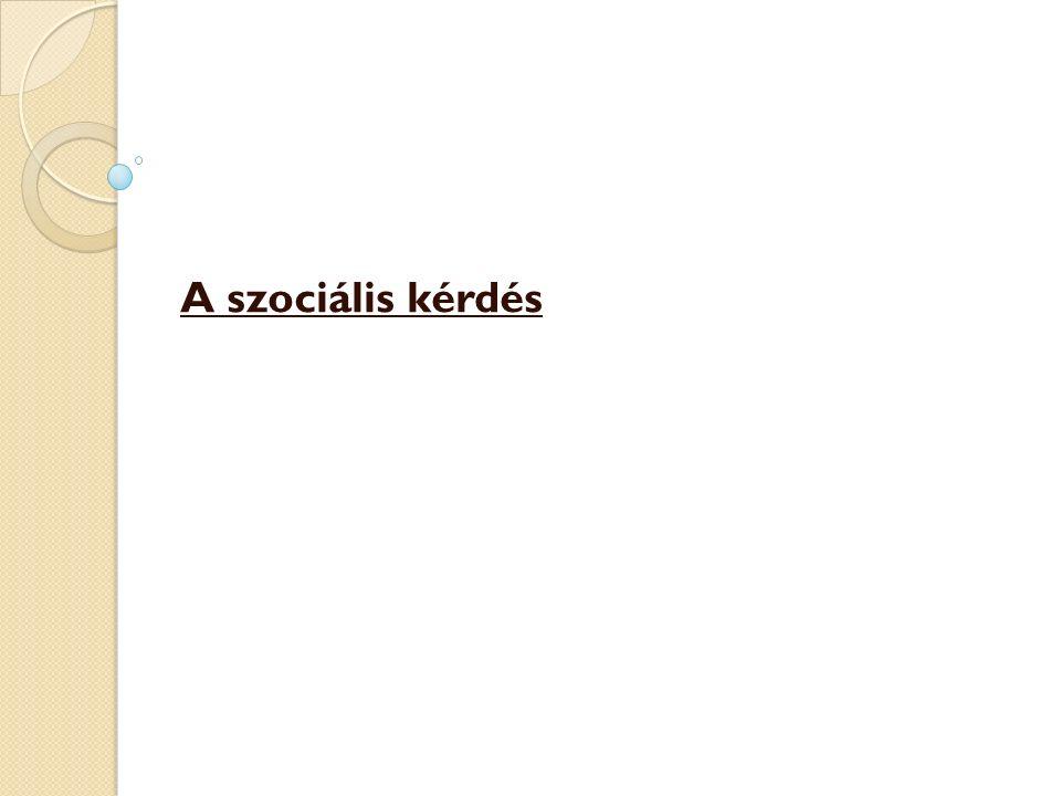 A szociális kérdés