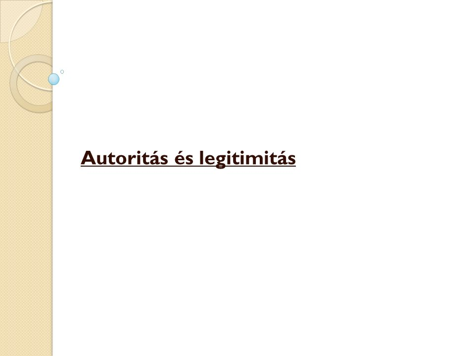 Autoritás és legitimitás