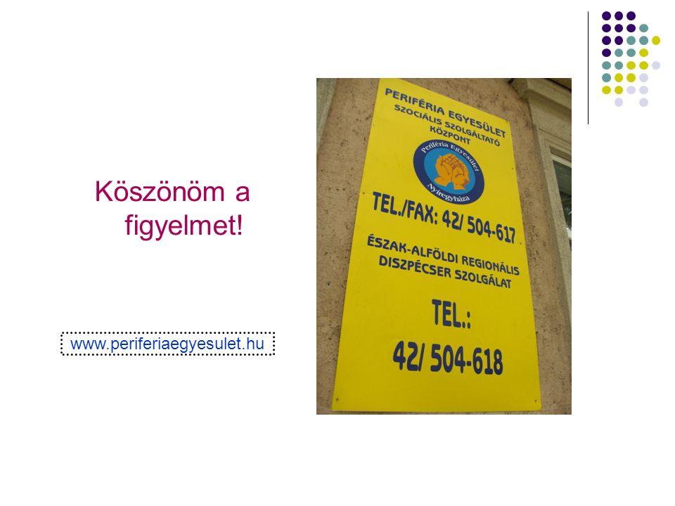 Köszönöm a figyelmet! www.periferiaegyesulet.hu