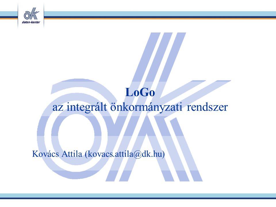LoGo az integrált önkormányzati rendszer Kovács Attila (kovacs.attila@dk.hu)