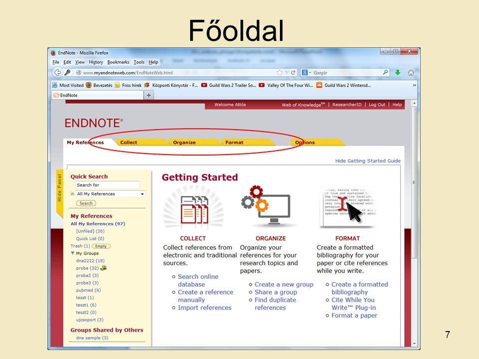 Duplikátum szűrés Duplikátum szűrés hasonlóan az Endnote programhoz 18