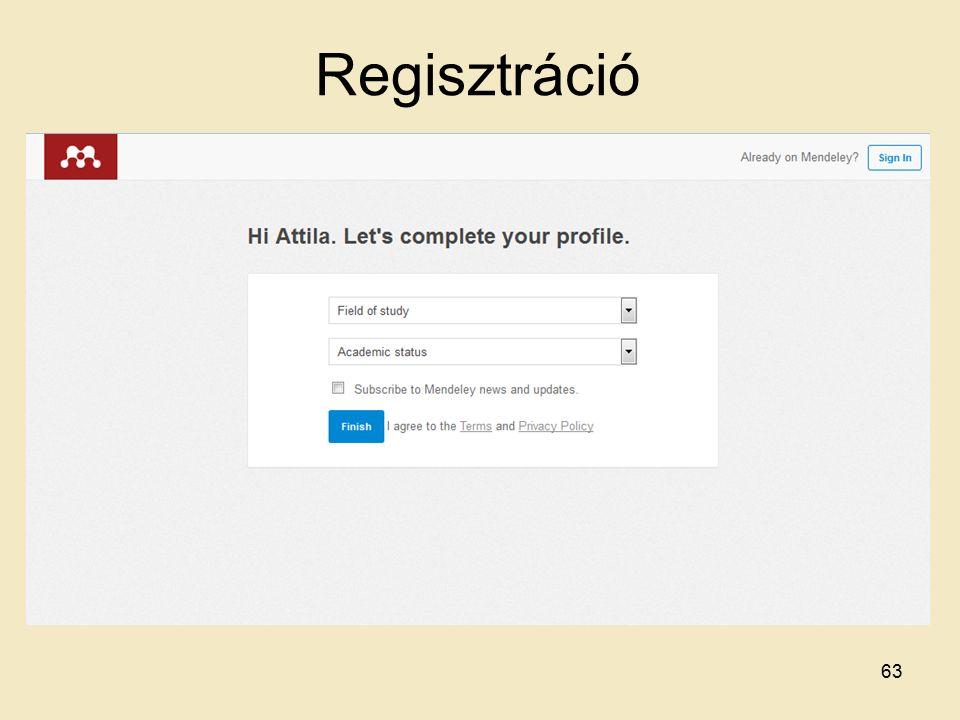 Regisztráció 63