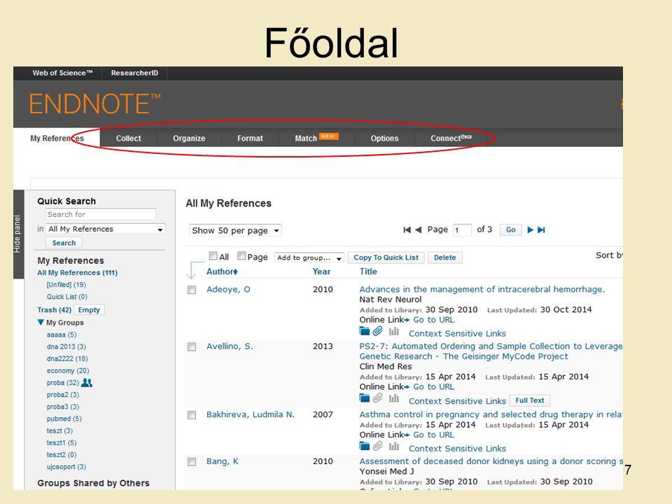 Zotero online fiók regisztrálása 108