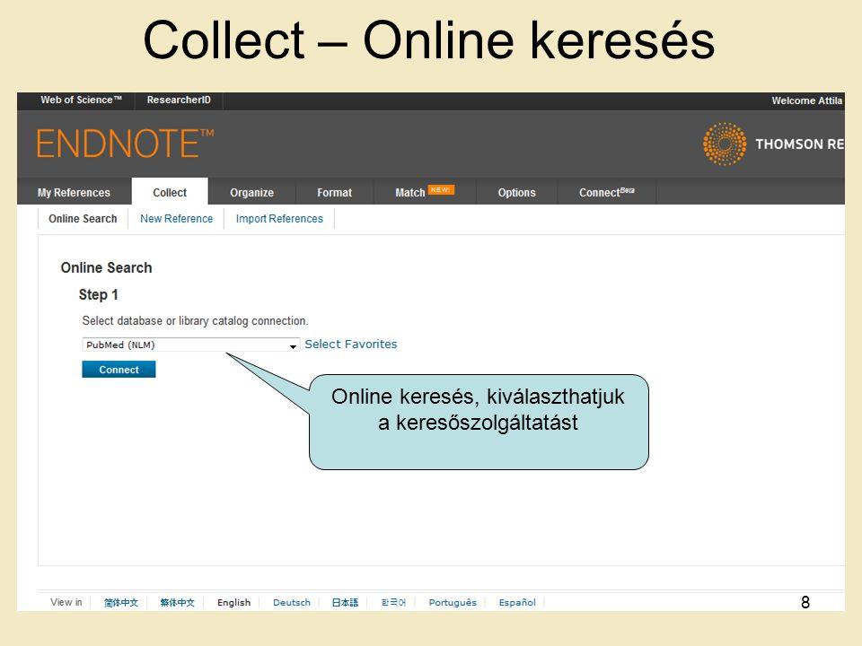 Web Importer 89 Egy weboldalról képes cikkeket beolvasni, és azt elmenteni a saját Mendeley adatbázisba