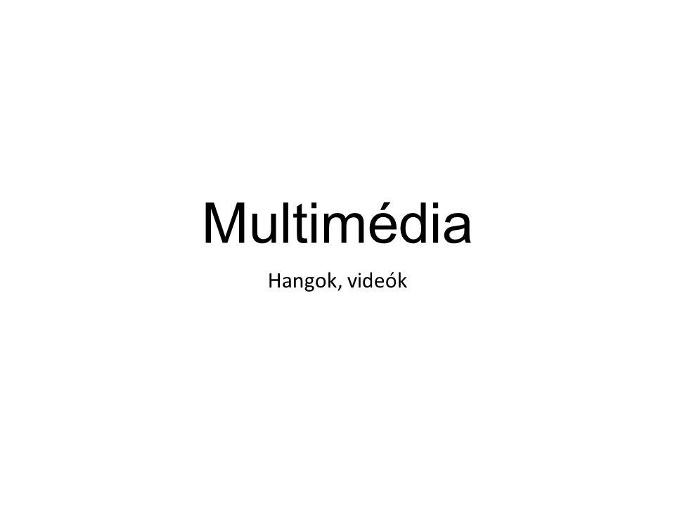 Multimédia Hangok, videók