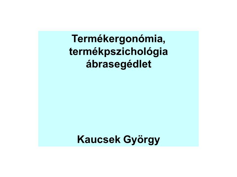 Termékergonómia, termékpszichológia ábrasegédlet Kaucsek György