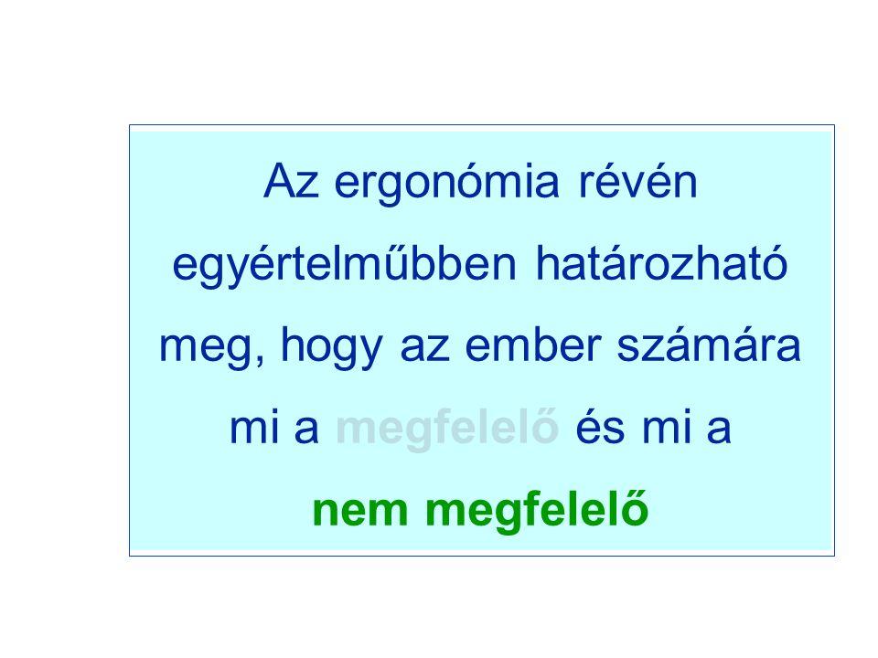 Az ergonómia révén egyértelműbben határozható meg, hogy az ember számára mi a megfelelő és mi a nem megfelelő